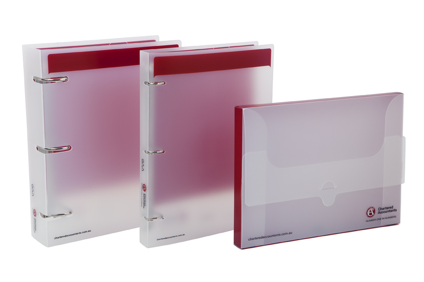 Binder and Satchel Set Polypropylene