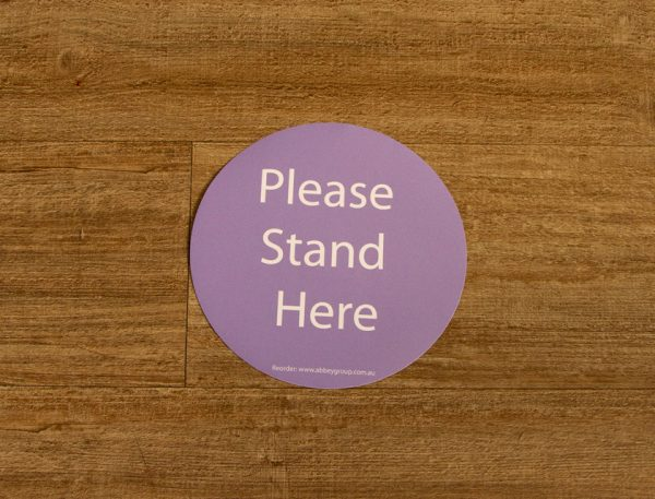 200mm Lilac Social Distance Sticker