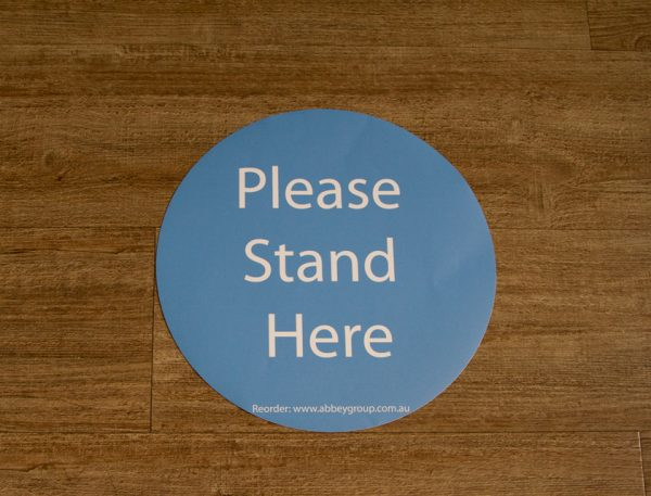 300mm Social Distance Sticker Blue