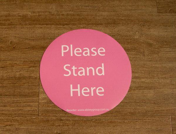 300mm Social Distance Sticker Pink