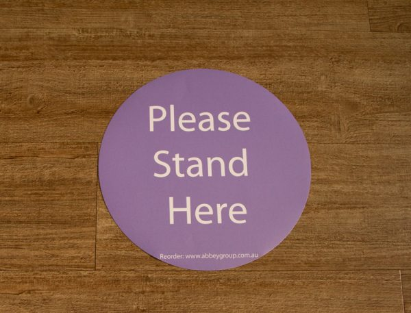 300mm Social Distance Sticker Lilac