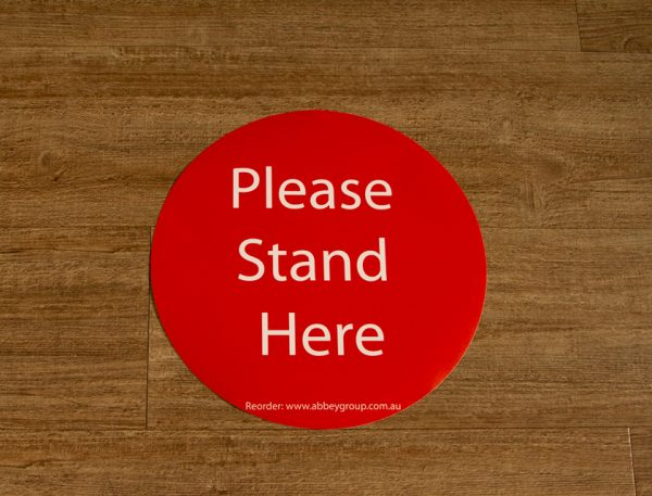 300mm Social Distance Sticker Red