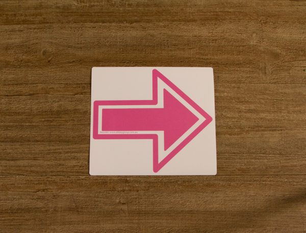 Solid Pink Direction Arrow