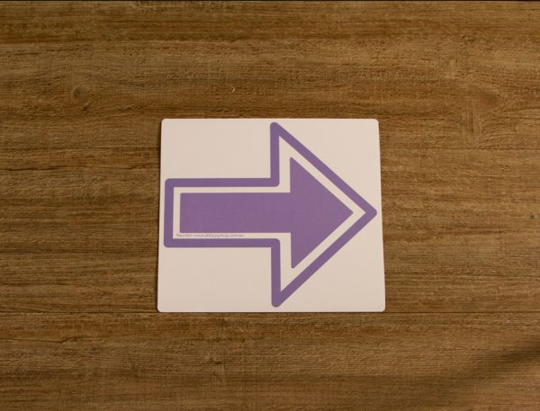 Solid Lilac Direction Arrow