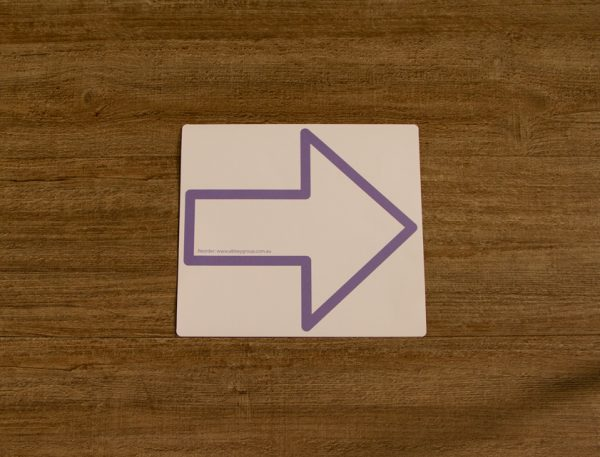 Lilac Direction Arrow Outline