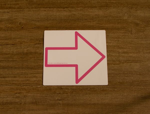 Pink Direction Arrow Outline