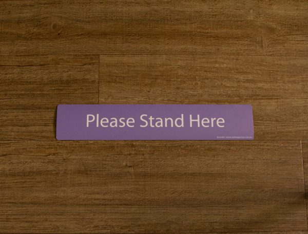 Lilac Please Stand Here Sticker